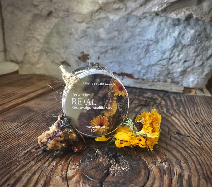 Healing-spruce resin and calendula salve (60 ml)